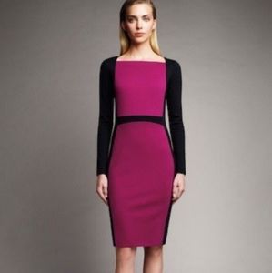 Narciso Rodriguez color block cocktail Dress sz M